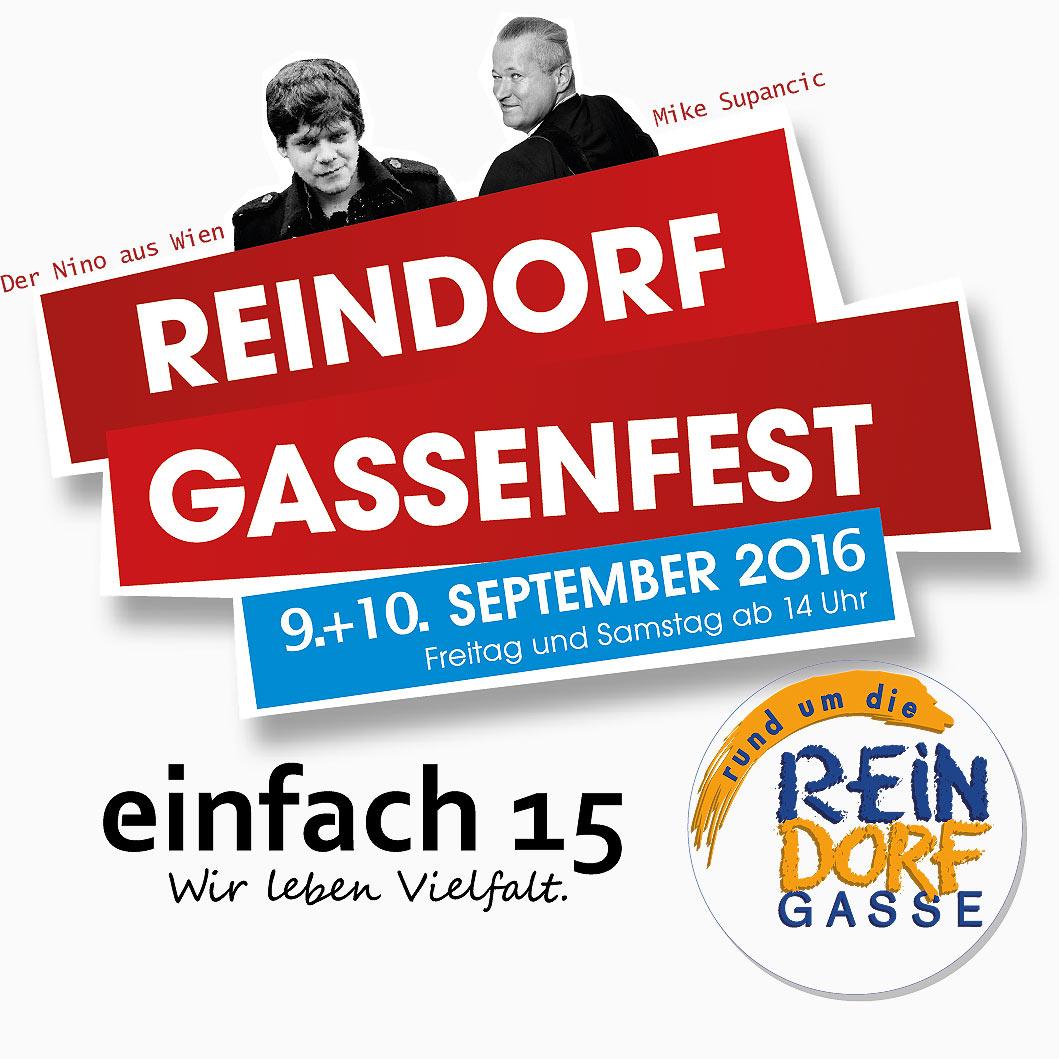 Reindorfgassenfest 9. + 10. September 2016
