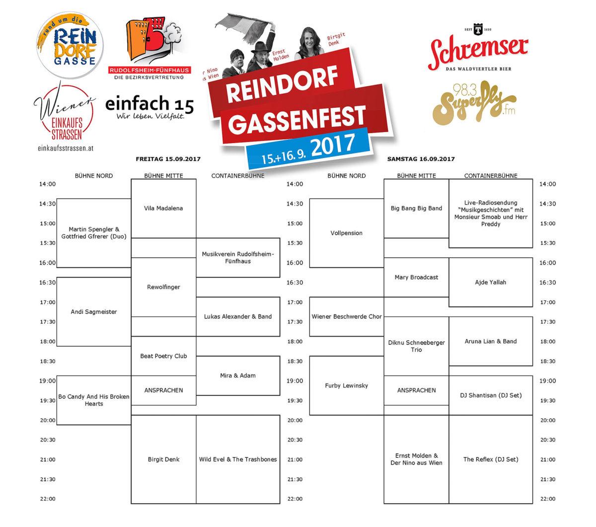 RDGFest2017 Zeitplan