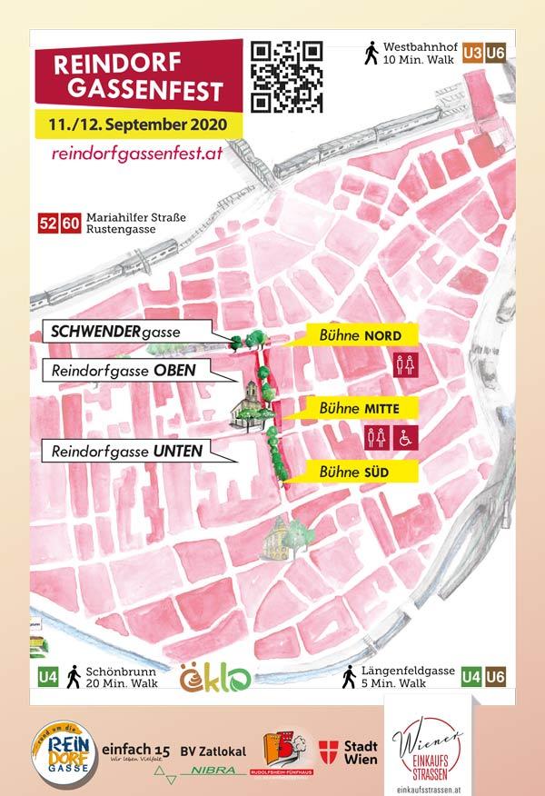 Reindorfgassenfest 2020 Umgebungsplan